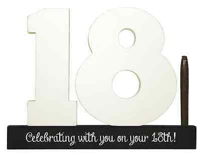 NEW Splosh Wooden Signature Number 18th Birthday Plaque You Sign With Pen SGN18