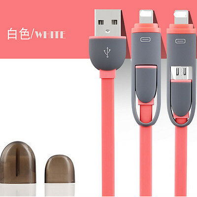 Fashion USB Lightning 2in1 Charger Cable for iPhone ipad and Android Accessories