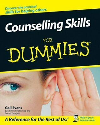 Counselling Skills For Dummies by Evans, Gail Paperback Book The Cheap Fast Free