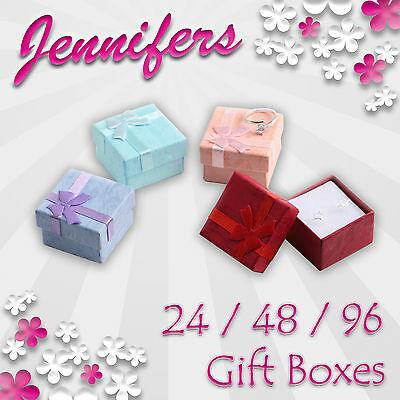 NEW Jewellery Gift Boxes (24-48-96) Ring Earring Jewelry Wholesale Box Bownot