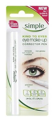 Simple Eye Make Up Corrector Pen Eyeliner Sensitive Skin Kind Alcohol Oil Free