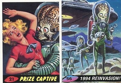 MARS ATTACKS 1994 Promo Card Lot 2 Cards #21 and #56 Topps