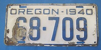 1940 Oregon License Plate