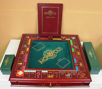MONOPOLY Franklin Mint Collector's Edition Luxury Wood Board Game