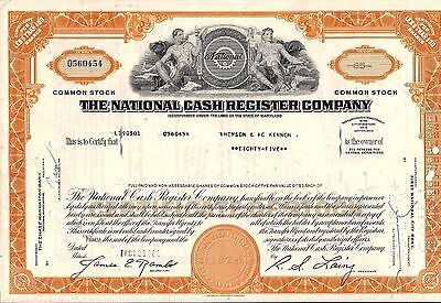 2 different National Cash Register Company Stock Certificate Maryland 1960's-70'