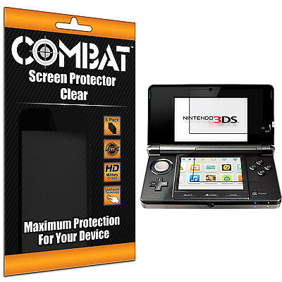 6X COMBAT HD Screen Protector Top Bottom Cover Shields for Nintendo 3DS