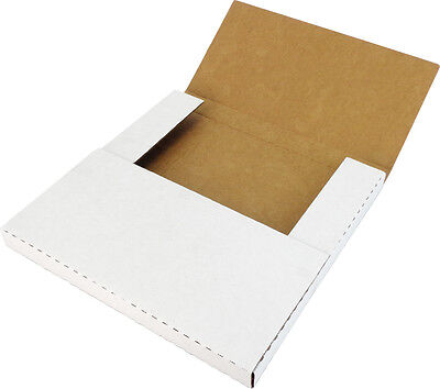 "(10) 12"" White Record Shipping Boxes Mailers Holds 1-3 Vinyl LP 33RPM 12BC01VDWH"