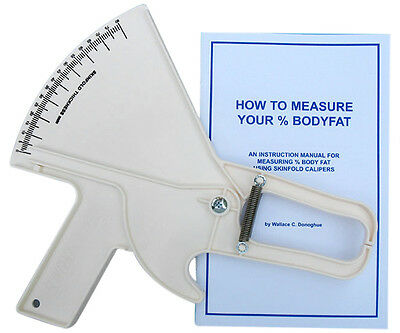 Slim Guide Skinfold Caliper- Measure % Percent Body Fat - White Slimguide *NEW*