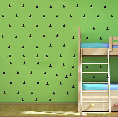 Wall Stickers Mini Triangle 152 pcs Removable Vinyl Decal Kids Art Mural Decor