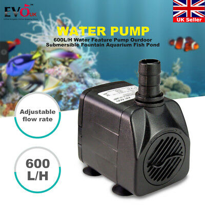 Newly 600L/H Water Feature Pump Ourdoor Submersible Fountain Aquarium Fish Pond