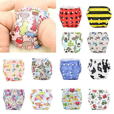 Soft Baby Adjustable Waterproof Washable Nappy Reusable Cloth Diaper Cover Wrap