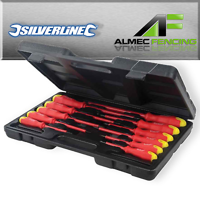 Electricians Screwdriver Tool Set Fully Insulated Electrical 11pc Kit with Case