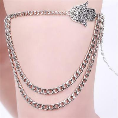 Women Chain Alloy Hand Thigh Leg Jewelry Body Bikini Beach Harness Jewelry JJ