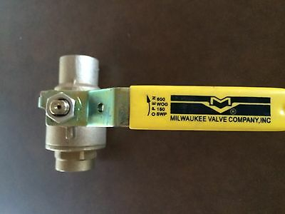 "NEW Apollo Full Port Brass Ball Valve 600 WOG 1"" Sweat"