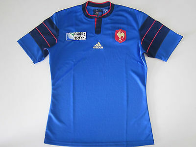 France 2015 Rugby Union World Cup Jersey Mens S - Xl New By Adidas