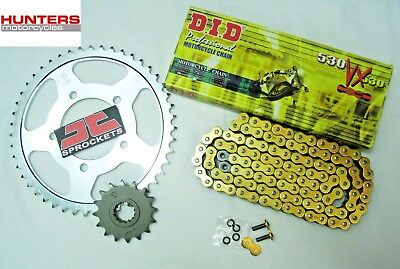 Suzuki GSX1300 R Hayabusa 1999 to 2007 DID Gold X-Ring Chain & JT Sprockets Kit