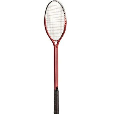 New Champion BR50 Aluminium Double Shaft Badminton Racquet Leather Dimpled Grip