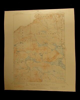 Attean Maine 1951 vintage USGS Topographical chart map