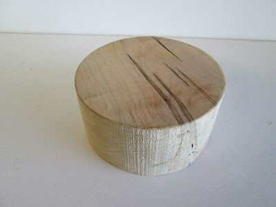"""Wormy Maple Wood Bowl Blank (6"""" diameter, 3"""" thick)"""
