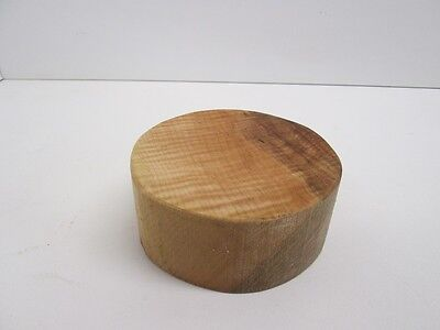 Curly Maple Wood Bowl Turning Blank (2'' x  4 1/2'')