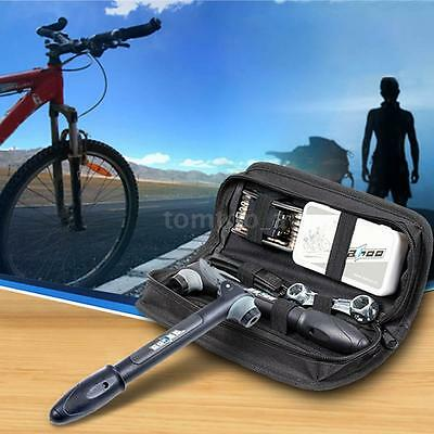 Bicycle Cycling Kit Tyre Repair Kit 16 in 1 Multi-Tool Set Kits With Pump G4E4