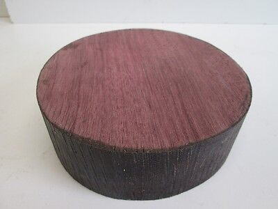 "Exotic Purpleheart Wood Bowl Turning Blank (5 3/4"" diameter x 2"" thick)"