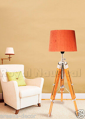 Royal Wooden Vintage Nautical Desk/floor Tripod Lamp  Lighting Stand