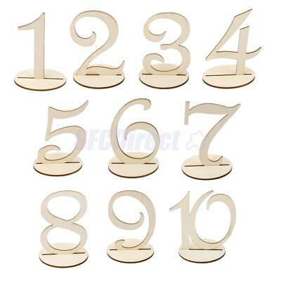 Wedding Party Table Sign Round free standing Wooden Table Numbers