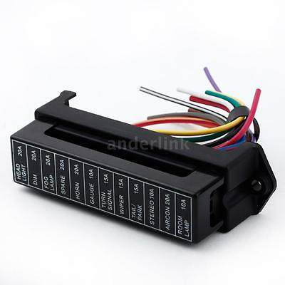 12 way 32v circuit car boat blade fuse box block holder for middle size atc  ato