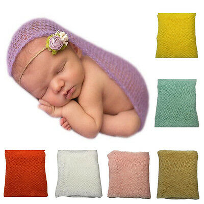 Newborn baby infant Photography photo prop MOHAIR wraps swaddle Cheesecloth Good