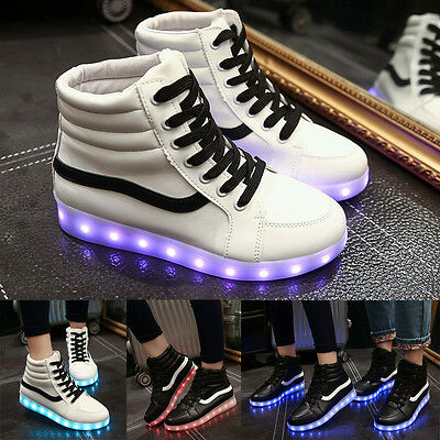 High Top Couples LED Light Up Luminous Shoes Sportswear Sneaker Luminous Casual