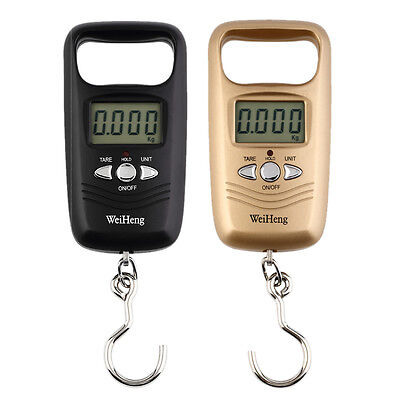 Pocket Portable Mini 50kg LCD Digital Hanging Luggage Weight Hook Scale Hot JCA