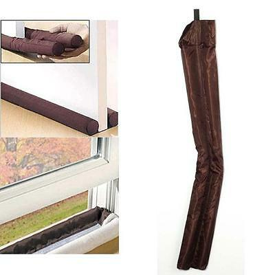 Newwest Brown Door windows Stopper Dual Draught Excluder Air Dust Insulator  TL
