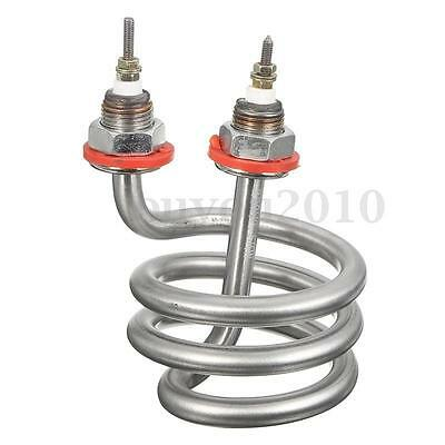 220V 2500W Water Heater Electric Tube Spiral Heating Element Stainless Steel