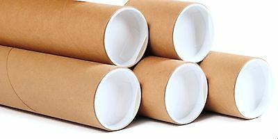 Postal Tubes Packing Tubes + End Caps Many Sizes Poster Tubes Pack Of 12