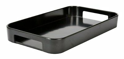 Zak Designs Half Gallery Serving Tray Black