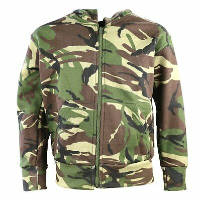 Kombat Kids Hoodie Fleece Lined Camouflage Soldier Army Military Outerwear