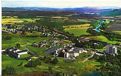 Scotland Postcard - Aerial View of Aviemore - Showing Buildings   A9443