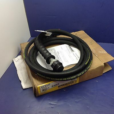 """Enerpac HC9210 Hose Assy, Hyd, 10 Ft CH604 Male Coupler 3/8"""" Male NPT"""