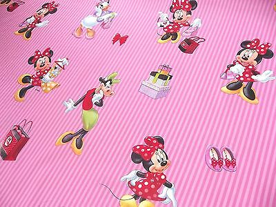 100% Cotton Fabric Material Disney - MINNIE MOUSE PINK