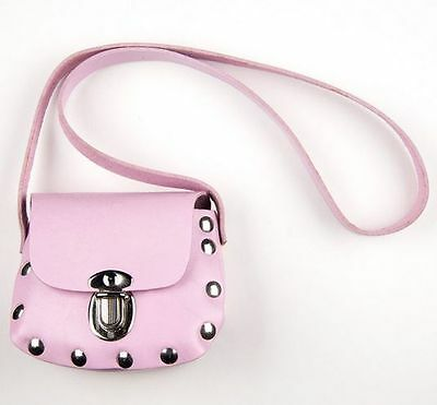 Genuine Leather Pink Little Girls Purse / Bag - USA Made - Kids