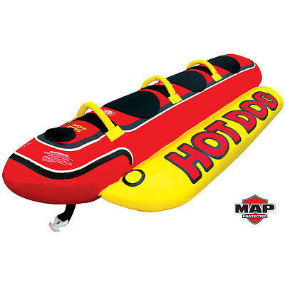 AIRHEAD HOT DOG 3 Riders Inflatable Towable Tube HD-3 Free Shipping