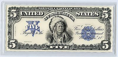 1899 $5 Indian Chief Silver Certificate Large Size Note - Reproduction - JT336