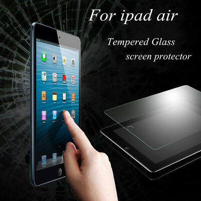 """2X Premium Tempered Glass Screen Protector Film for Apple iPad Air 1 2 -9.7"""""""
