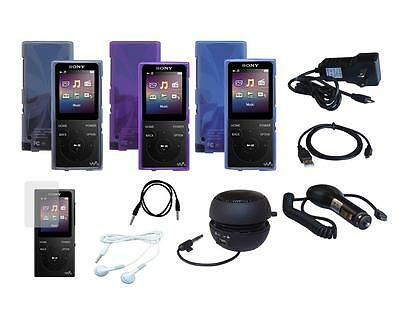 10 Item Accessory Bundle Combo Kit Set for Sony Walkman NW-E390 NW-E393 NW-E394