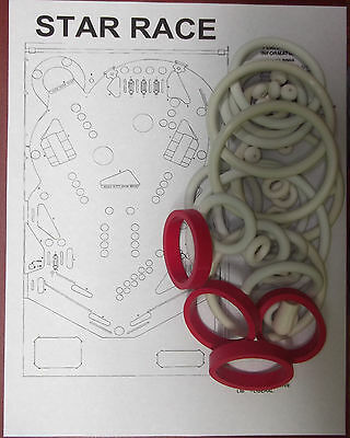 1980 Gottlieb Roller Disco Pinball Rubber Ring Kit