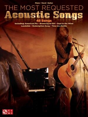 Most Requested Acoustic Songs PVG Book *NEW* Piano Vocal Guitar Music 48 Hits