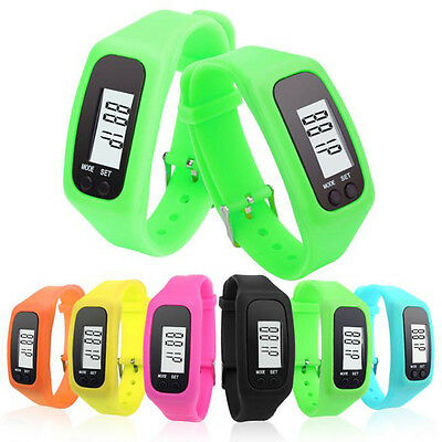 Digital LCD Pedometer Wrist Step Run Walking Distance Calorie Counter Sports