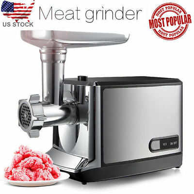 2000W Stainless Steel Business Home Electric Meat Grinder 3x Cutting plates 110V