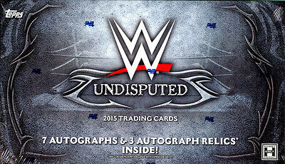 2015 Topps WWE Undisputed SEALED HOBBY BOX (10 Autos per box!)